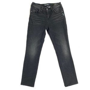 Silver Aiko High Skinny Jeans Black Size 26 L 31